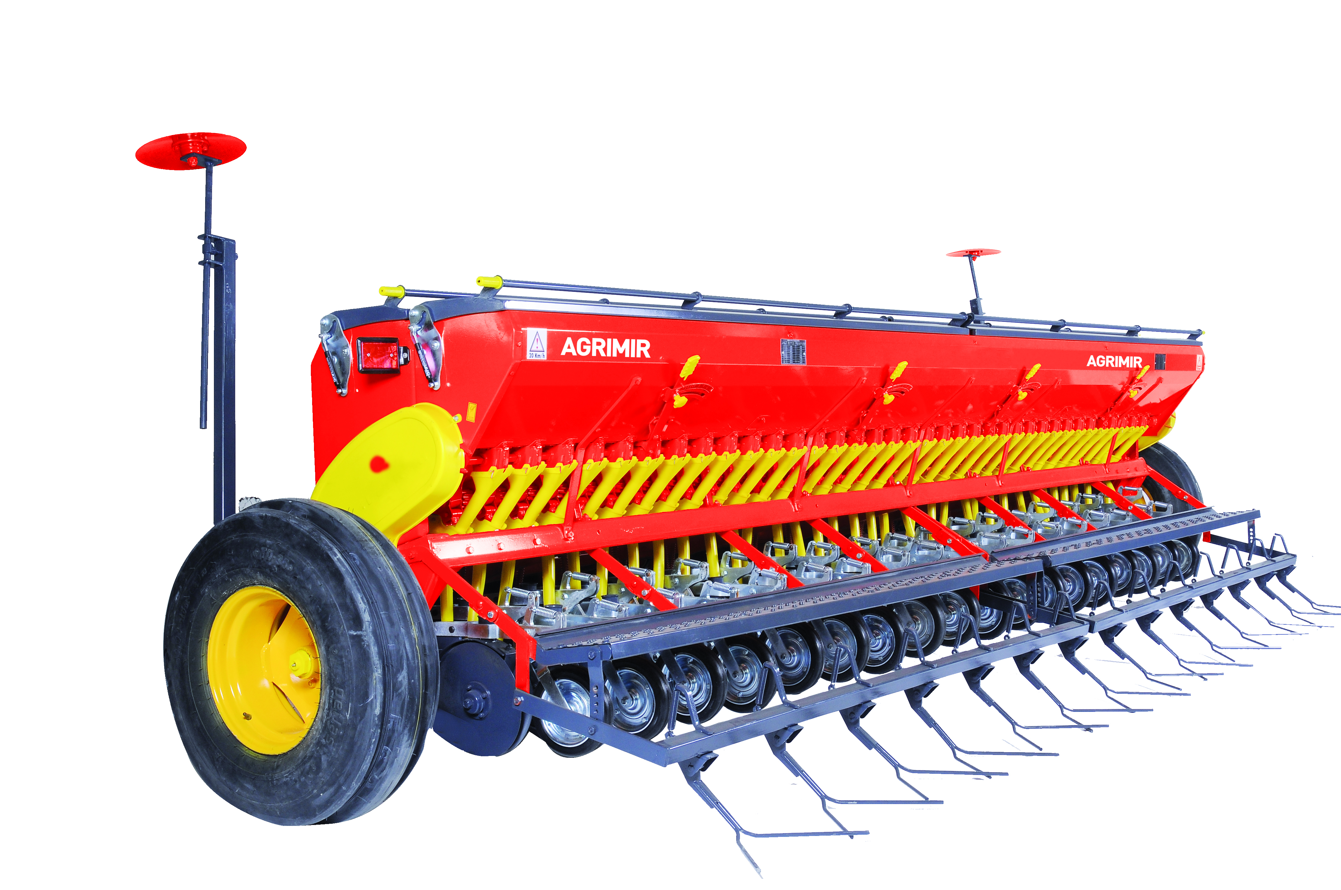 combined grain seed drill double disc with pressure wheel 1