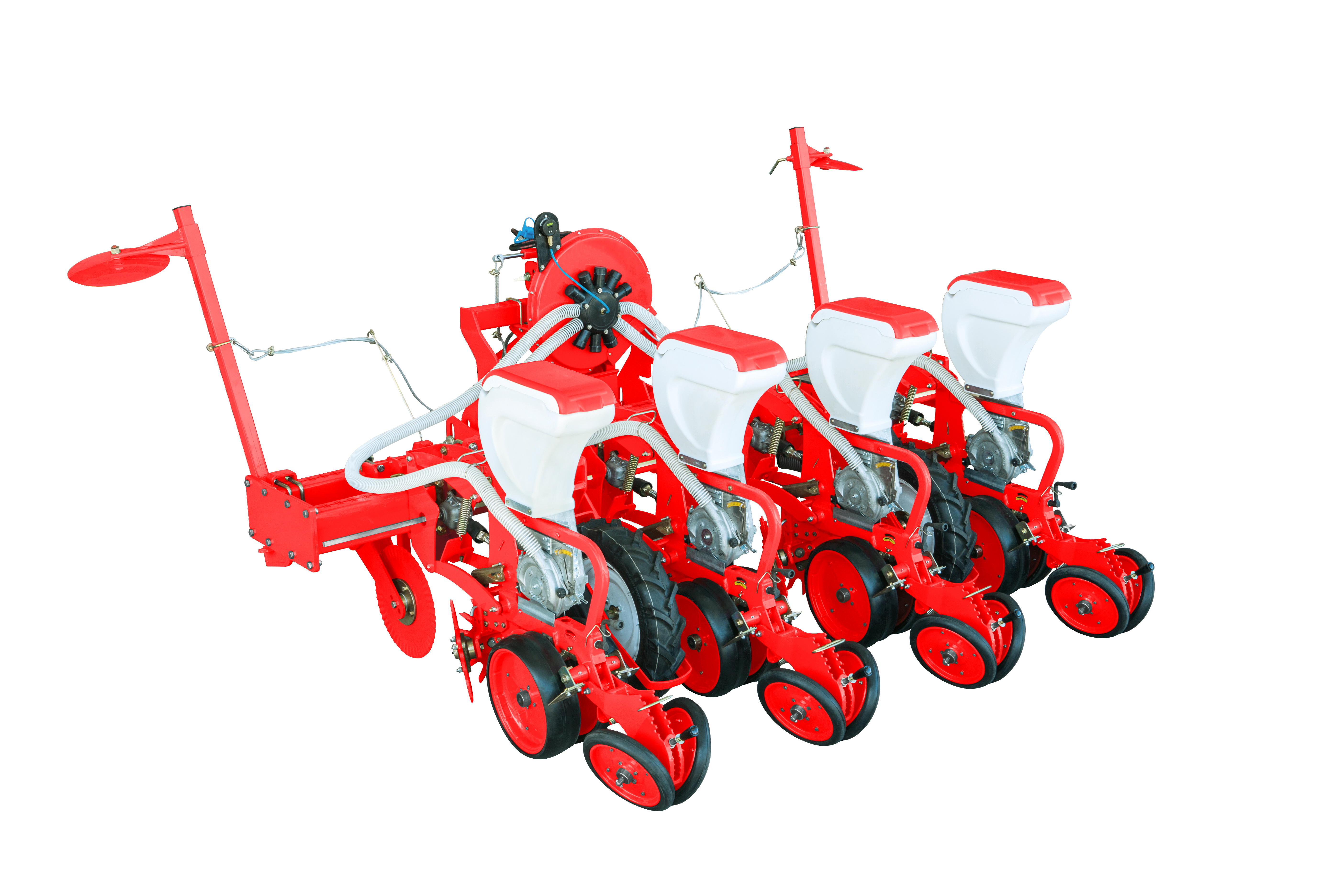pneumatic precision direct seeder double frame